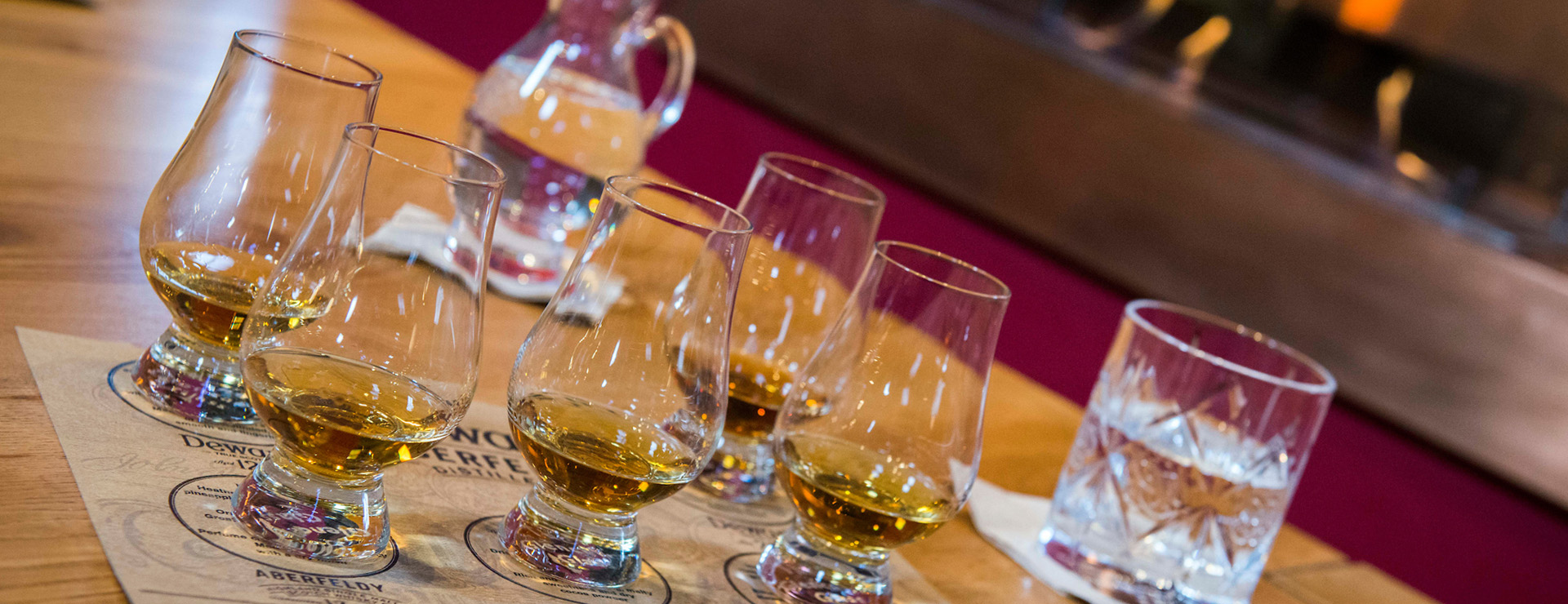Private whisky tastings at Dewar's Aberfeldy Distillery