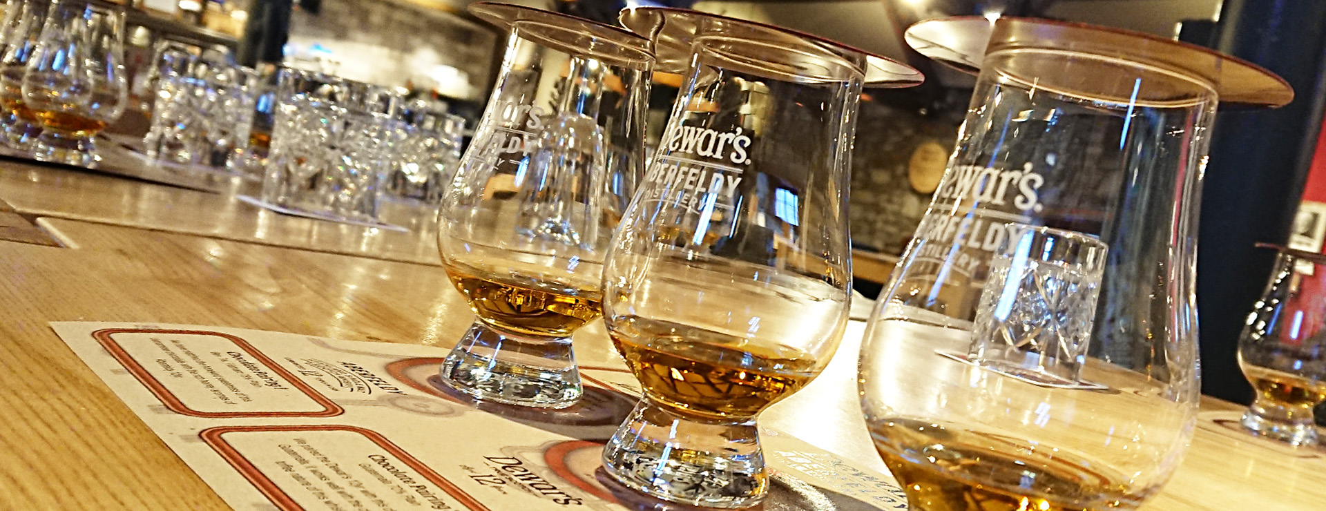Chocolate and Whisky Tasting Tour set out at Dewar's Aberfeldy Distillery